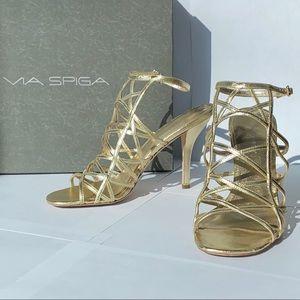 Via Spika heels 6.5 Gold